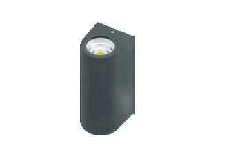 Corp perete negru 2x5W, 80x68x150mm, IP65