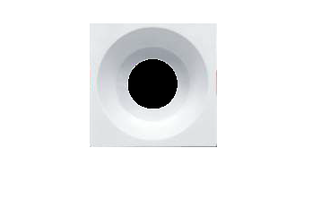 Carcasă albă, pătrată ptr. GU10/GU5.3 TETRA-C