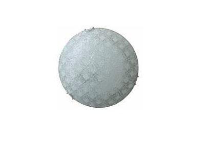 Plafonieră 30 cm Keten cristal, albă