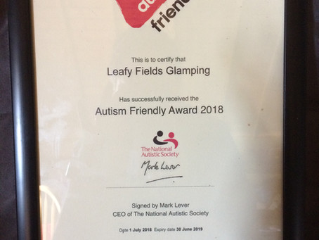 The National Autistic Society's Autism Friendly Award2018