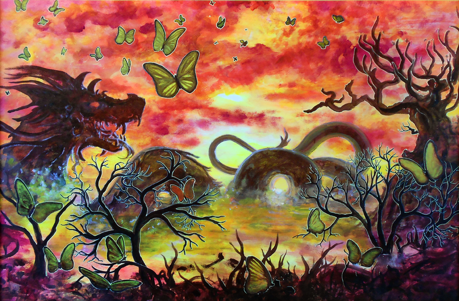 Dragon & Butterflies