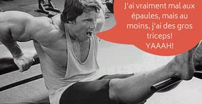 Triceps bench dips; un stress inutile sur vos épaules.