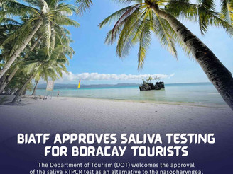 Saliva test now allowed as entry requirement to Boracay