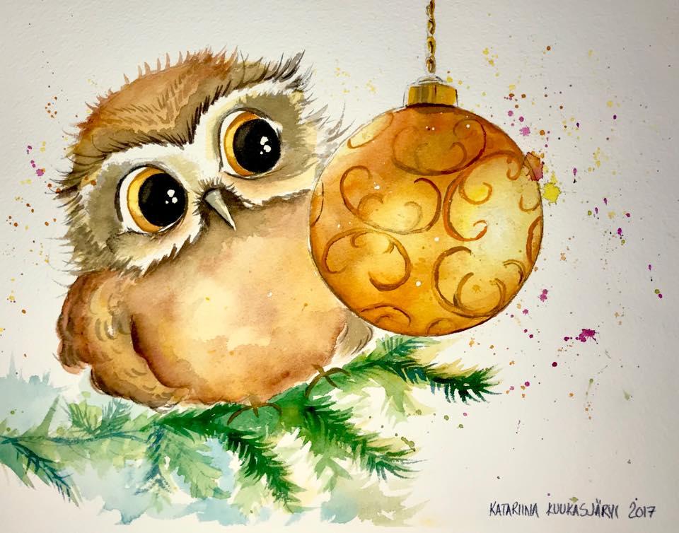 Pöllö ja joulupallo
