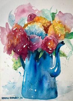 Kukkia kannussa