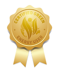 Picture of gold award for a Certified Green Energy User, which Greenest Energy SW are.