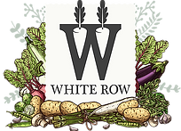 A logo for White Row, a farm shop and cafe based in Frome, Somerset, who are one of Greenest Energy SW energy customers