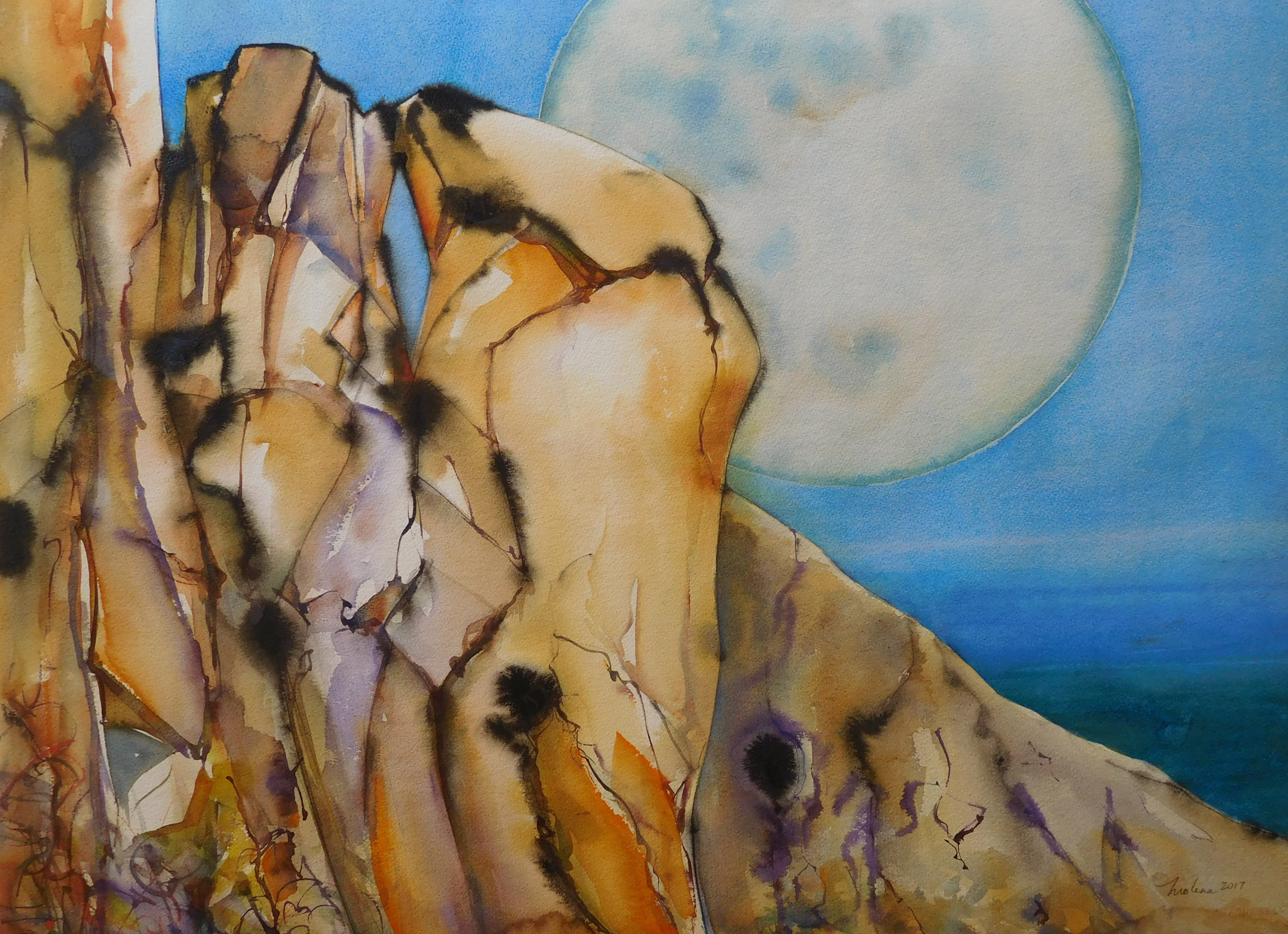 Full Moon Rising 22x30