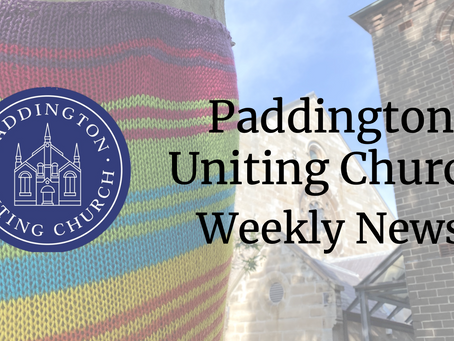 What's Happening At Paddington Uniting Church in 2021