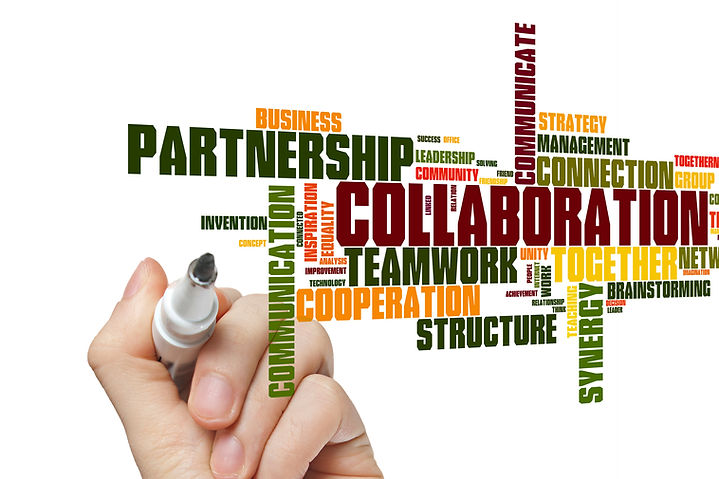 Collaboration concept word cloud backgro