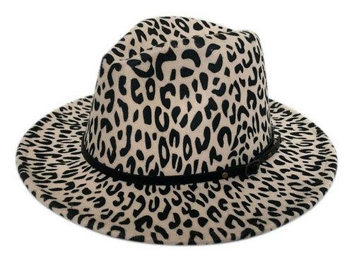 Animal Print Fedora Hat