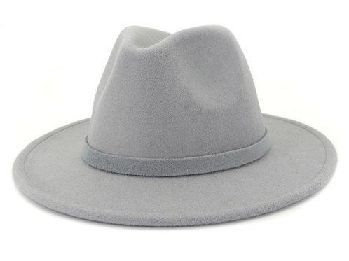 Gray Fedora Hat