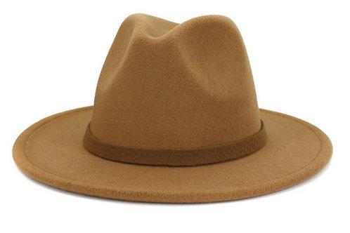 Tan Fedora Hat