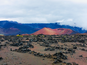 Deep inside the Haleakala crater