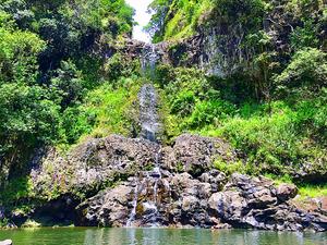 Hike to Maui's hidden waterfalls to swim and jump
