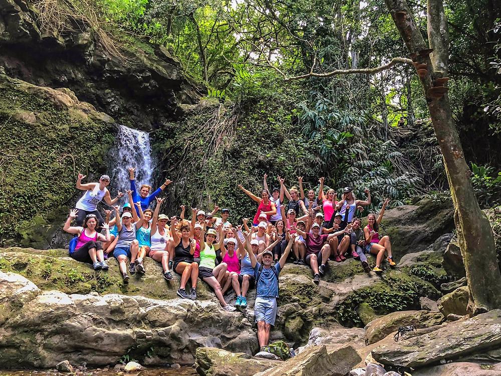 Health coaches unite at Makamaka'ole Falls