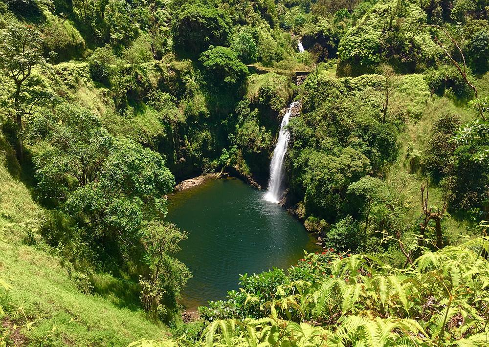 Hidden waterfalls Road to Hana