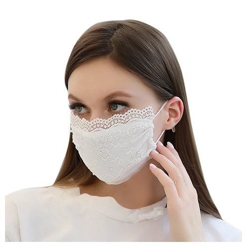 Fashion Women Lace Face Masks Reusable Breathable Mouth Mask  Face Outdoor