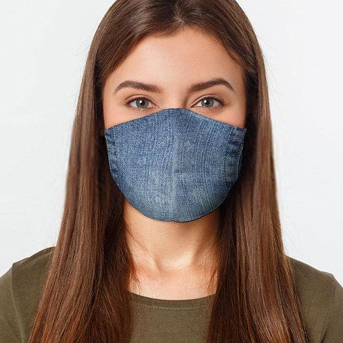 Denim Style Preventative Face Mask