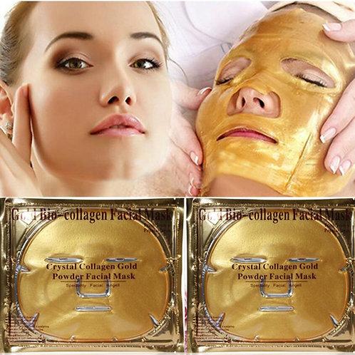 10 יחידות מסכת זהב נגד קמטים הלבנה אנטי אייג'ינג לחות מסכת פנים קולגן קידום גדול