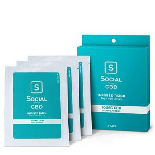 Social - CBD Topical Patch - 100mg