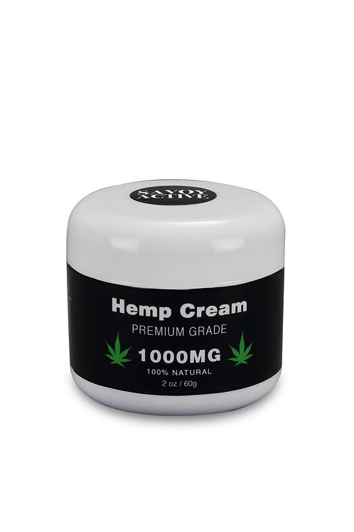 Hemp Seed Oil Cream - Premium Grade - 100% Natural - 1000MG - 2 Oz. / 60 G.