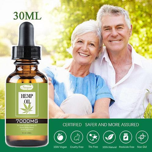 7000mg 30ml Organic Essential Hemp Oil Contain CBD Ingredient