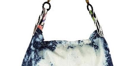 Bleached Denim Handbag