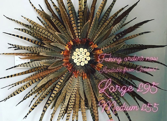 Large Pheasant feather wreath