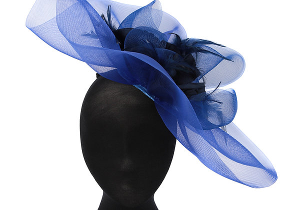 blue fascinator, blue hat, hat, fascinator, ascot, hats, wedding hats, hat hire