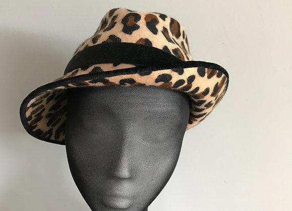 Leopard Print trilby