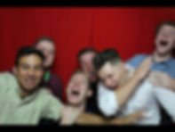 group of males in a photo booth