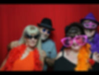 Freinds in a photo booth