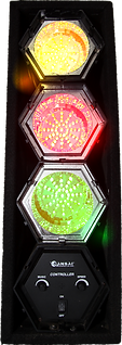 3 way multi coloured disco light