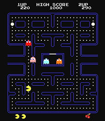 Screen Shot Of Pac Man Video Game