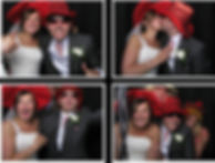 just married in a phot booth