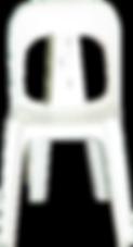 White plastic bistro chair