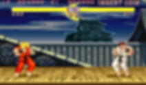 Screen Shot Of Street Fighter Video Game
