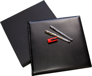 Black Leather Photo Album and Glitter pen and USB
