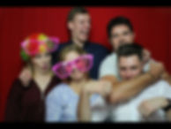 5 people in a photo booth