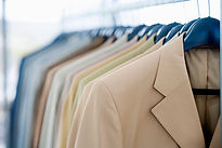 suit jackets on hangers