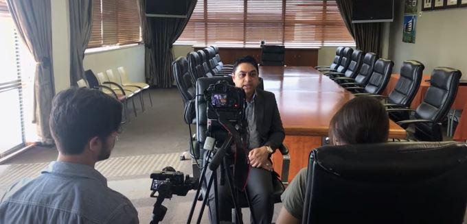 Niresh Bechan KZN Business Leaders video shoot