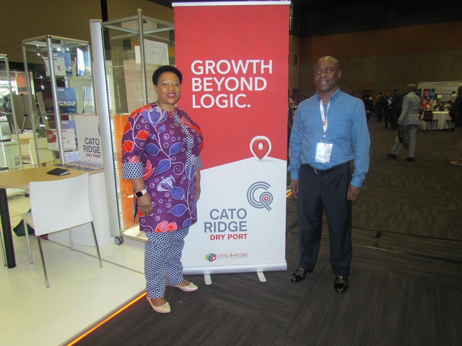 Cato Ridge Dry Port and Economic Development Tourism and Environmental Affairs MEC Nomusa Dube-Mncube with Bheki Mathe
