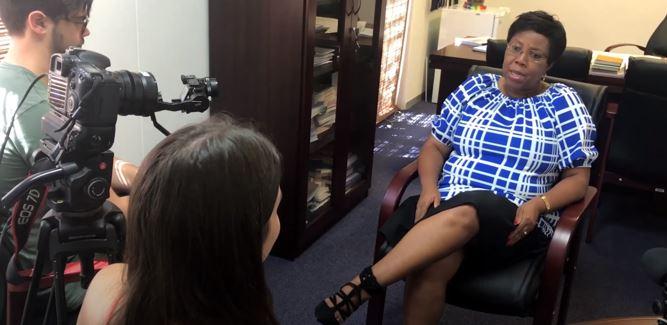 Stella Khumalo business leaders video shoot