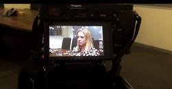 Saskia Hill business leaders video shoot