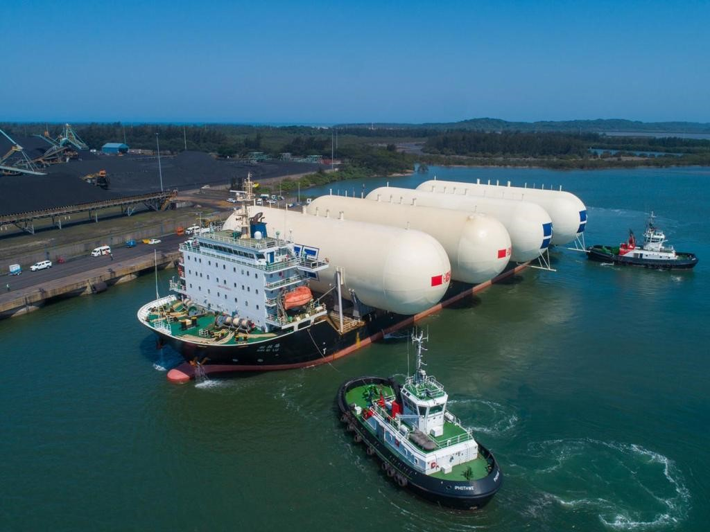 LPG storage tanks arriving at Port of Richards Bay