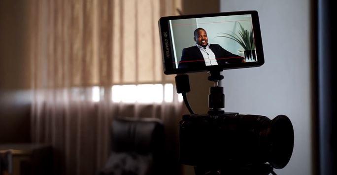 Mthoko Mbatha business leaders video shoot
