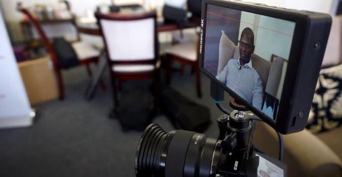 Akhona Mahlati business leaders video shoot