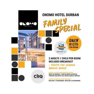 Onomo Hotel Durban family special