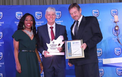 GeoAfrika winning the award for Construction & Development catergory